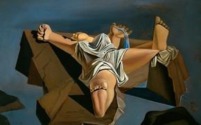 Wallpaper surrealism, picture, Salvador Dali, Salvador Dali, Figure on the Rocks