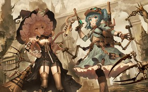 Picture weapons, girls, anime, art, Touhou, Touhou