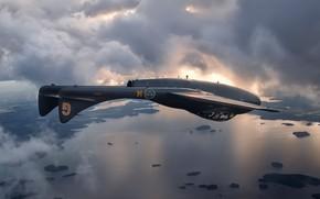 Picture British, Vampire, jet fighter, De Havilland