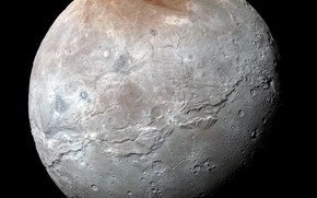 Picture New Horizons, Charon, the satellite of Pluto
