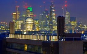 Picture night, lights, England, London, home, panorama