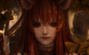 Picture girl, fantasy, art, Fox