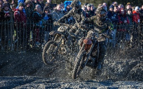 Wallpaper race, motorcycles, dirt, sport