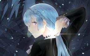 Picture look, girl, anime, kiznaiver, noriko sonozaki