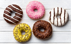 Picture Chocolate, Board, Sweets, Food, Donuts