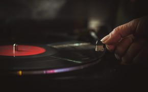 Picture music, vinyl, record player