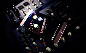 Picture music, panel, sound, mixer, smartphone, highscreen, power five max
