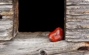 Picture love, darkness, background, tree, red, black, stone, heart, Board, Valentine, heart, veins, Valentine's day, black, …