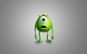 Picture eyes, green, monster, mouth, claws, horns, green, horns, eye, Monsters Inc., Mike Wazowski