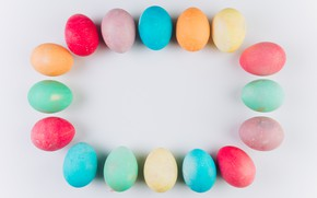 Picture eggs, colorful, Easter, wood, spring, Easter, eggs, decoration, Happy