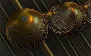 Wallpaper background, 3D, circles