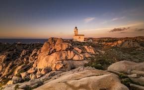 Picture lighthouse, Italia, Sardinia, The lighthouse of Capo Testa