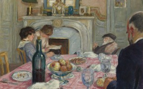 Picture interior, picture, genre, Albert Andre, Albert Andre, After Breakfast in Renoir's House