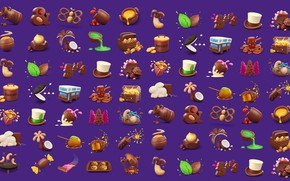 Wallpaper snacks, AJ Jefferies, food, Cadbury Dairy Milk Icons, rendering, children's, sweets