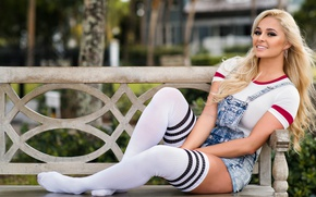 Picture summer, face, smile, model, blonde, legs