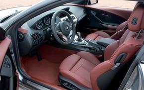Picture BMW, the wheel, salon, 6-series