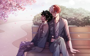 Picture anime, art, guys, Fanart, Boku no Hero Academy, Todoroki Shouto, Pixiv, My Hero Academia, Fanart …