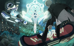 Picture DRAMAtical Murder, Nitro+CHiRAL, CG Art, Official Art, Honya Lala, Usui (DMMd), Extra Arms