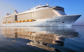 Picture Reflection, Liner, Board, The ship, Calm, Passenger, Huge, Passenger liner, To lying, Anthem of the ...