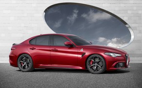 Wallpaper Car, Italian, Red, Giulia, Alfa, Alfa Romeo, Sport