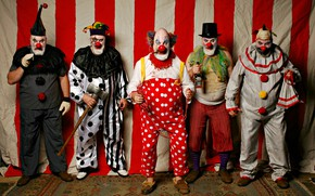 Picture background, people, Clowns, Circus Xavier