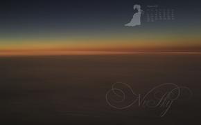 Picture the sky, flight, sunset, orange, abstraction, fantasy, color, range, the evening, horizon, calendar, February, warm, …