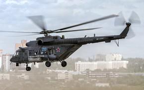 Picture helicopter, flies, Mi-8, Mi-8, The Russian air force, Mi-8AMTSH, `Terminator`, The Mil Mi-8AMTSh `Terminator`