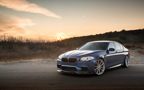 Picture BMW, Sunset, F10, Sight, LED