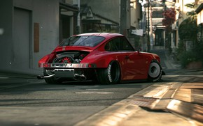 Picture road, street, car, back, Raw 964