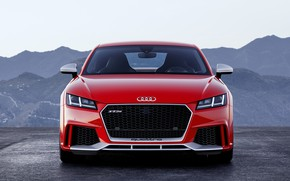 Wallpaper German, TT, Red, RS, 2018, Audi