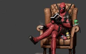 Wallpaper Deadpool, Deadpool Reading, mars ..., break, Wade Winston Wilson