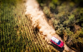Picture Red, Field, Mini, Dust, Sport, Speed, Race, Top, Rally, SUV, Rally, X-Raid Team, MINI Cooper, ...