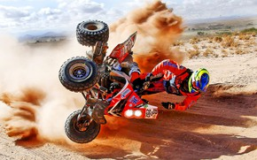 Picture Sand, ATV, Moto, Rally, Dakar, Dakar, Rally, The time, Flies, Kvadro, Auatria