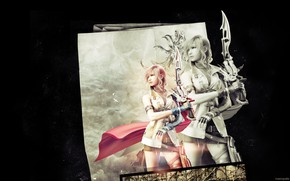 Picture girl, background, The game, art, Final fantasy