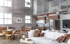 Picture style, interior, kitchen, dining room, Design Loft in Miami Shores