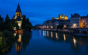 Picture France, France, Metz, Temple neuf and Cathedral, Mets