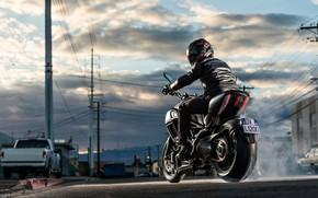 Wallpaper Ducati, Street, Bike, Diavel