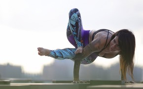 Picture girl, pose, background, legs, gymnast, Jessica