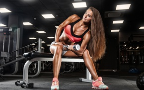 Wallpaper workout, female, girl, pose, fitness