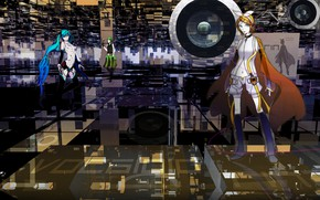 Picture background, anime, art, speaker, Vocaloid, Vocaloid, characters