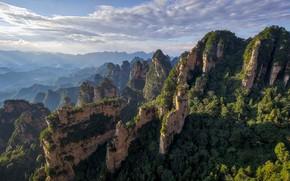 Picture mountains, rocks, China, Hunan