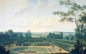 Picture landscape, oil, picture, canvas, Joseph Augustus Knipe, The Ambassador of the Batavian Republic in Paris …