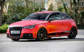 Picture Audi, Red, monster, Satin, wrap, wraps, Smouldering