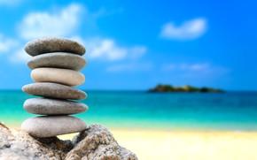 Picture sea, beach, summer, pebbles, stones, summer, white, beach, sea, stones, pebbles