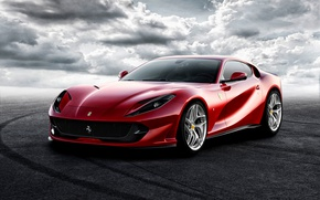 Wallpaper Ferrari, Superfast, supercar, background, Ferrari, 812