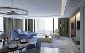 Picture interior, megapolis, living room, dining room, AC Project, by Ameiva Studio
