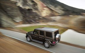 Picture road, movement, Mercedes-Benz, pond, 2018, G-Class