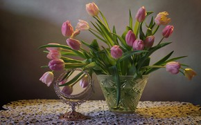 Picture flowers, tulips, still life