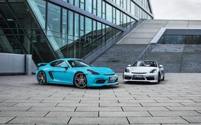 Picture Porsche, Cayman, convertible, Porsche, turbo, TechArt, 718