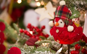 Picture holiday, toy, new year, spruce, decoration, bird